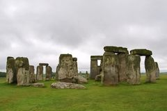 Stonehenge in England Overcast. Stonehenge in England on Overcast day stock photography