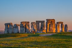 Stonehenge in England is a popular landmark royalty free stock image