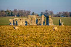 Stonehenge in England is a popular landmark. Travel photography stock image