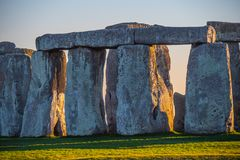 Stonehenge in England is a popular landmark royalty free stock photo