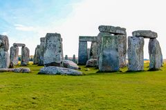 Stonehenge in England. Stonehenge is a prehistoric monument in Wiltshire in England. It consists of a ring of standing stones royalty free stock images