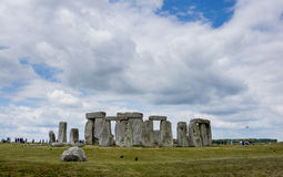 Stonehenge, England. With tourists around Stock Photography