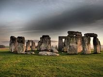 Stonehenge - ENGLISCHES ERBprähistorisches Monument stockfotos