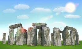 Stonehenge english landmark on field with sky. A stonehenge english landmark on field with sky Royalty Free Stock Image