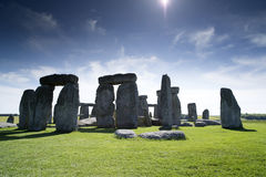 Stonehenge forntida stencirle Arkivfoto