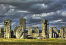 Stonehenge in gathering storm Stock Photo
