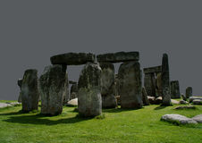 Stonehenge on a gray background. Stock Photography
