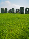 Stonehenge and Green Grass on Sunny Day Royalty Free Stock Photo