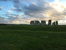 Stonehenge. Historic England sunset Stock Image