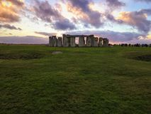 Stonehenge. Historic England sunset Stock Photos