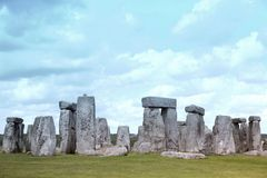 Stonehenge historic site on green grass Royalty Free Stock Images
