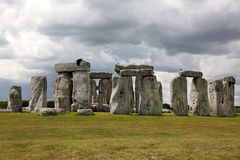 Stonehenge historic site on green grass Royalty Free Stock Image