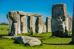 Stonehenge. Historical monument in England. UK, during a warm summer day with a blue sky stock image