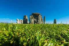 Stonehenge. Historical monument in England. UK, during a warm summer day with a blue sky Stock Images
