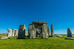 Stonehenge. Historical monument in England. UK, during a warm summer day with a blue sky royalty free stock photography