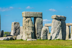 Stonehenge. Historical monument in England. UK, during a warm summer day with a blue sky stock photo