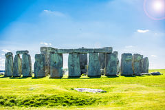 Stonehenge. Historical monument in England. UK, during a warm summer day with a blue sky Royalty Free Stock Image