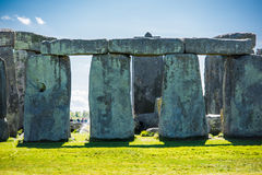 Stonehenge. Historical monument in England. UK, during a warm summer day with a blue sky Royalty Free Stock Images