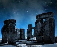 Stonehenge. Historical monument Stonehenge in night,England stock photography
