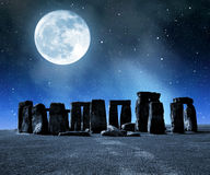 Stonehenge. Historical monument Stonehenge in night,England, UK Royalty Free Stock Images