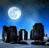 Stonehenge. Historical monument Stonehenge in night,England, UK stock photography