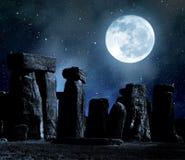 Stonehenge. Historical monument Stonehenge in night,England, UK royalty free stock photos