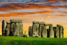 Stonehenge. Historical monument Stonehenge in the sunset, England, UK Royalty Free Stock Photo
