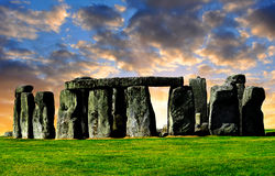 Stonehenge. Historical monument Stonehenge in the sunset, England, UK Stock Photography