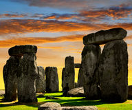 Stonehenge. Historical monument Stonehenge in the sunset, England, UK Royalty Free Stock Photos