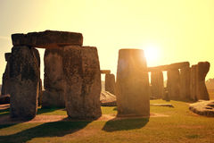 Stonehenge. Historical monument Stonehenge in the sunset, England, UK Stock Photo