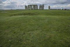Stonehenge - i prati immagine stock