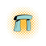 Stonehenge icon in comics style. On a white background Royalty Free Stock Photos