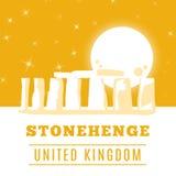 Stonehenge icon isolated on white background. Vector illustration. For prehistoric religious landmark architecture. Ancient monument rock. Heritage England UK Royalty Free Stock Images