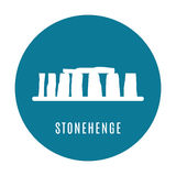 Stonehenge icon isolated on white background. Vector illustration. For prehistoric religious landmark architecture. Ancient monument rock. Heritage England UK Stock Photo