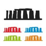 Stonehenge icon isolated on white background. Vector illustration Stock Photography
