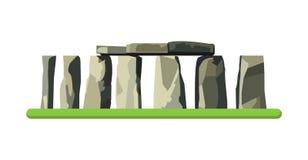 Stonehenge icon isolated on white background. Vector illustration Stock Images