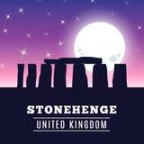 Stonehenge icon  on white background. Vector illustration. For prehistoric religious landmark architecture. Ancient monument rock. Heritage England UK tourism Royalty Free Stock Photos