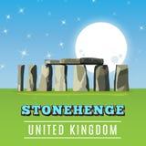 Stonehenge icon  on white background. Vector illustration. For prehistoric religious landmark architecture. Ancient monument rock. Heritage England UK tourism Stock Image