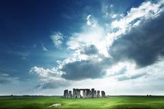 Stonehenge, Inghilterra Il Regno Unito Immagine Stock Libera da Diritti