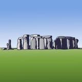 Stonehenge. Landmark of England. Megalithic monument for religious ceremonies. Vector Image. Stock Photo