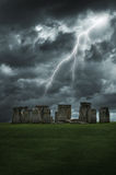 Stonehenge lightning storm Stock Photo