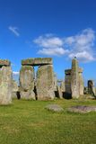 Stonehenge. On the lush countryside of England in Wiltshire royalty free stock images