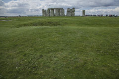 Stonehenge - the meadows. This image shows Stonehenge is a prehistoric monument in Wiltshire, England, 2 miles west of Amesbury and 8 miles north of Salisbury stock image