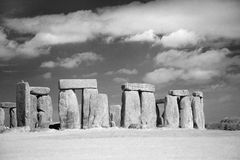 Stonehenge Megalithes in front of dramatic sky Stock Photo