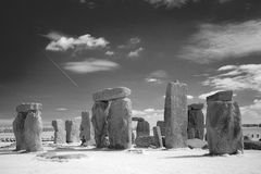 Stonehenge Megalithes in front of dramatic sky Royalty Free Stock Photo
