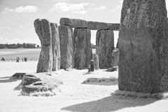 Stonehenge Megalithes. Stonehenge in the south of England is the best known of a structure of megalithes which were erected at least 4500 years ago. It is stock image