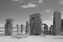 Stonehenge Megalithes. Stonehenge in the south of England is the best known of a structure of megalithes which were erected at least 4500 years ago. It is royalty free stock photography