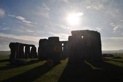 Stonehenge. Megaliths` shadow, England, preistorical art stock photo