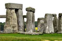 Stonehenge monoliths. On a bright day royalty free stock image