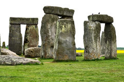 Stonehenge monoliths. The stone monoliths from the neolitic era located in Wiltshire, UK stock photography